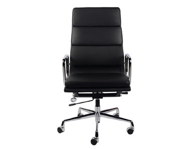 Кресло Eames Style HB Soft Pad Executive Chair EA 219 черная кожа от дизайнера CHARLES & RAY EAMES