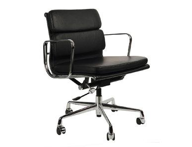 Кресло Eames Style Soft Pad Office Chair EA 217 черная кожа от дизайнера CHARLES & RAY EAMES