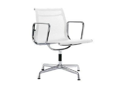 Кресло Eames Style Netweave Conference Chair EA 108 белая сетка от дизайнера CHARLES & RAY EAMES