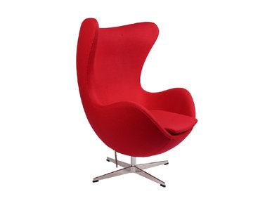 Кресло Style Egg Chair красная шерсть от дизайнера Arne Jacobsen