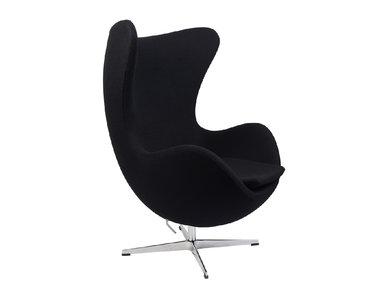 Кресло Style Egg Chair черная шерсть от дизайнера Arne Jacobsen
