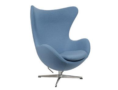 Кресло Style Egg Chair голубая шерсть от дизайнера Arne Jacobsen