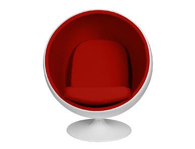 Кресло Eero Aarnio Style Ball Chair красная ткань от дизайнера Eero Aarnio