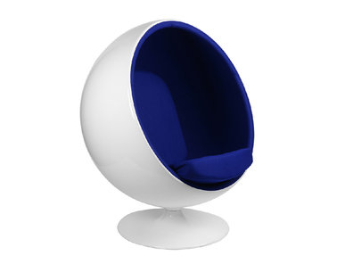 Кресло Eero Aarnio Style Ball Chair синяя ткань от дизайнера Eero Aarnio