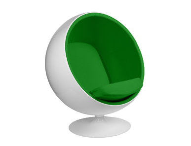 Кресло Ball Chair зеленая ткань от дизайнера Eero Aarnio