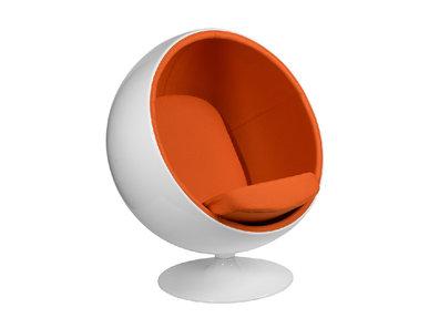 Кресло Ball Chair оранжевая ткань от дизайнера Eero Aarnio