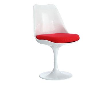 Стул Tulip Chair красная подушка от дизайнера EERO SAARINEN