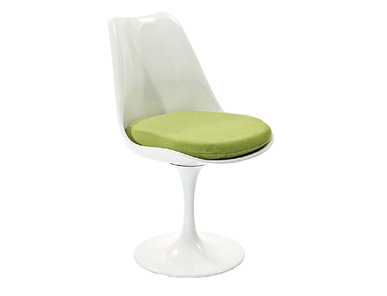 Стул Tulip Chair зеленая подушка от дизайнера EERO SAARINEN
