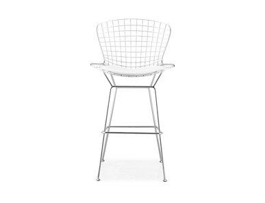 Барный стул Wire Side Chair белый от дизайнера HARRY BERTOIA