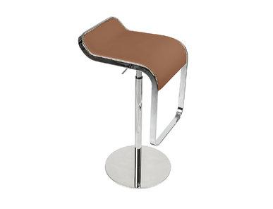 Барный стул LEM Style Piston Stool коричневая кожа от дизайнера SHIN AND TOMOKO AZUMI