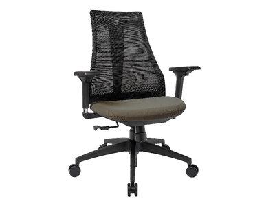 Офисное кресло Air-Chair черный пластик, черная база  от студии дизайна BARTOLI DESIGN