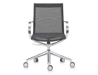 Кресло Mercury LB серая сетка, матовый алюминий от студии дизайна BARTOLI DESIGN
