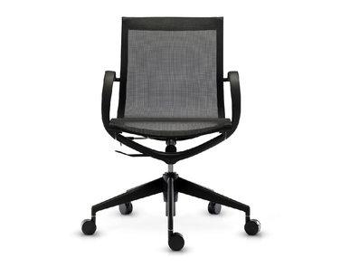 Кресло Mercury LB черная сетка, черный пластик от студии дизайна BARTOLI DESIGN