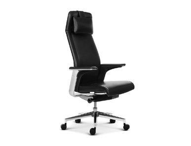 Эргономичное кресло руководителя Match HB черная кожа  от студии дизайна BARTOLI DESIGN