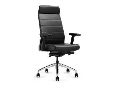 Кресло руководителя Andico HB черная кожа от дизайнера NIKE AO