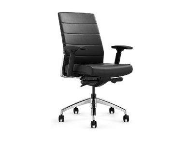 Офисное кресло Andico LB черная кожа от дизайнера NIKE AO