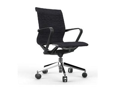Офисное кресло Prov LB черная сетка, база хром от дизайнера NIKE AO
