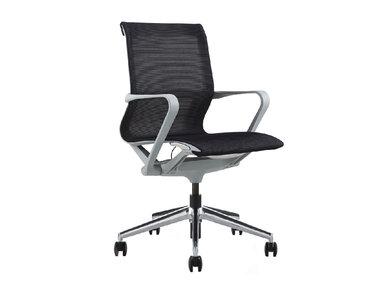 Офисное кресло PROV LB черная сетка, алюминиевый каркас от дизайнера NIKE AO