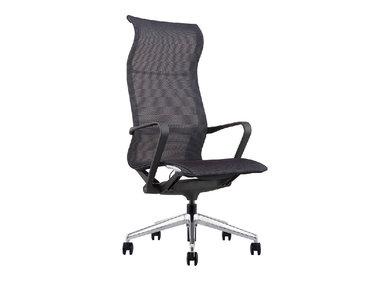 Кресло руководителя PROV HB черная сетка, база хром  от дизайнера NIKE AO