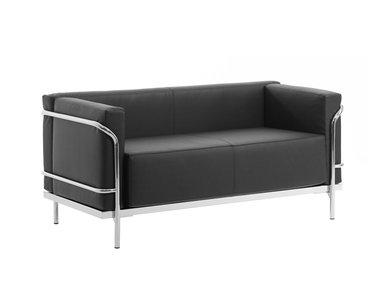 Дизайнерский диван Mykonos черная кожа от дизайнерской студии Profoffice