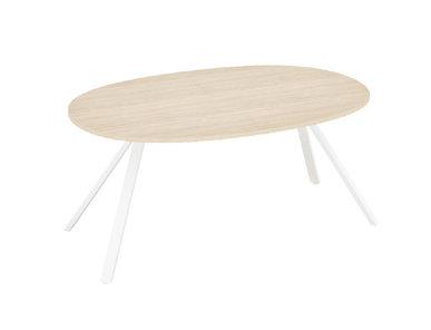 Стол для переговоров Astro L180 см св.дуб/белый от дизайнерской студии Profoffice