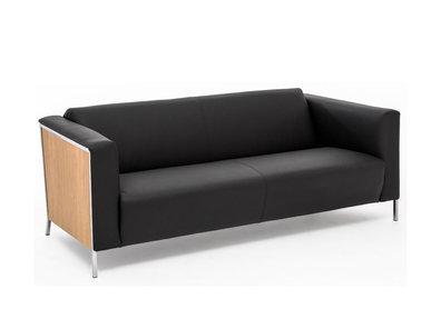 Кожаный диван Vispo Wood (Дуб Флоре) от дизайнерской студии Profoffice