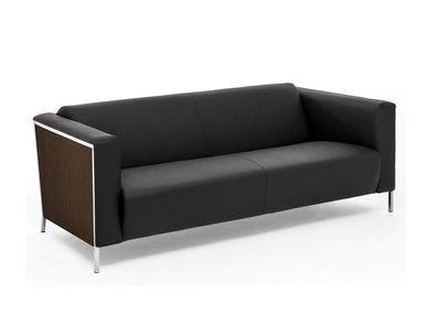 Кожаный диван Vispo Wood (Орех Мароне) от дизайнерской студии Profoffice