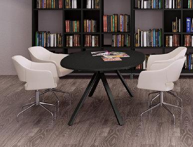 Стол для переговоров Astro D120 см черный/венге от дизайнерской студии Profoffice