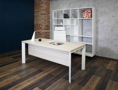Офисный стол Fermo Light 160 см белые опоры от дизайнерской студии Profoffice