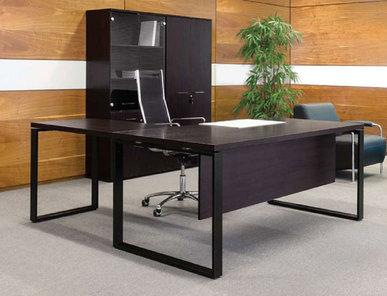 Стол руководителя Rotonda с приставкой от дизайнерской студии Profoffice