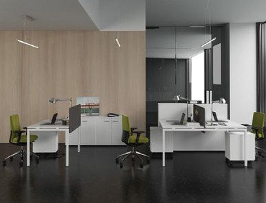 Офисный стол Tour для двух сотрудников (бенч) 160 х 143 от дизайнерской студии Profoffice