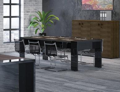 Стол для переговоров Lava табак от дизайнерской студии Profoffice