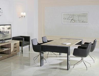 Стол для переговоров Lava гавана/серый глянец от дизайнерской студии Profoffice