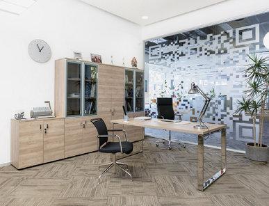 Стол руководителя Rola L200 (Гавана, Хром) от дизайнерской студии Profoffice