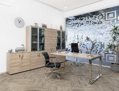 Стол руководителя Rola L160 (Гавана, Хром) от дизайнерской студии Profoffice