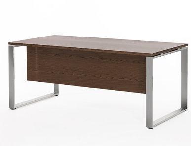 Стол руководителя Exe с передней панелью (Орех Мароне, Хром) от дизайнерской студии Profoffice