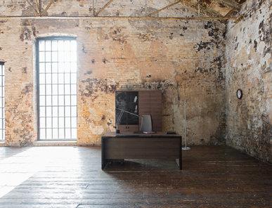 Стол руководителя Lava табак/черный глянец от дизайнерской студии Profoffice
