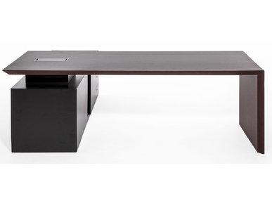 Стол руководителя MultipliCEO на опорной тумбе (дуб темный) от дизайнерской студии Profoffice
