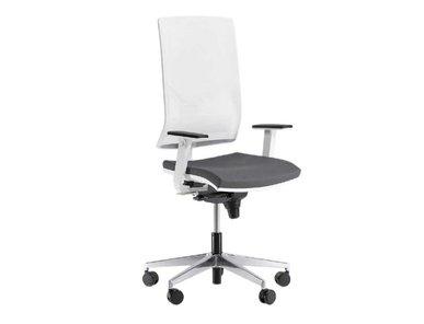 Кресло Play белое, темно-серая подушка от дизайнерской студии Profoffice