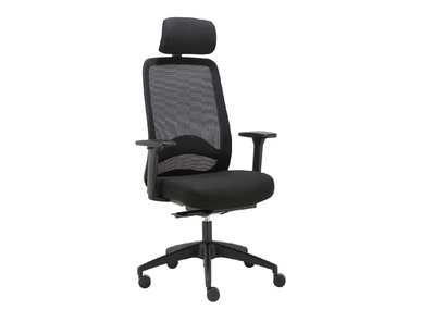 Кресло для персонала Carot AS с подголовником черное от дизайнерской студии Profoffice