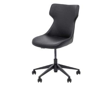 Кресло Antea, черная кожа от дизайнерской студии Profoffice