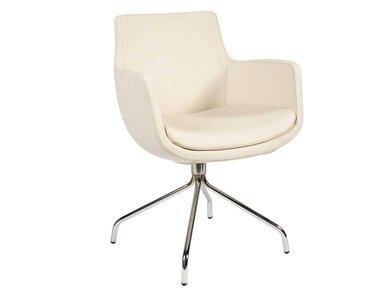 Кресло Felicia бежевая кожа без прострочки от дизайнерской студии Profoffice