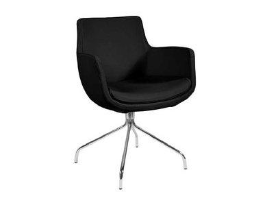 Кресло Felicia черная кожа от дизайнерской студии Profoffice