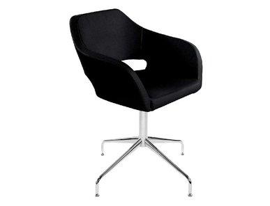 Кресло Bosa черная кожа от дизайнерской студии Profoffice