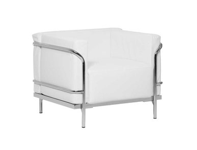Кресло Mykonos белая кожа от дизайнерской студии Profoffice