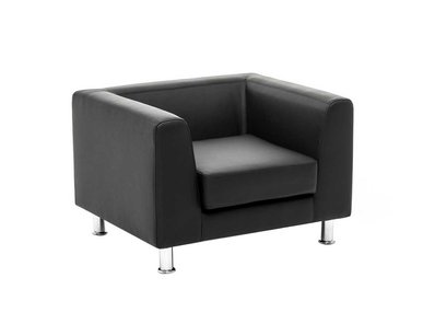 Кресло Eva черная кожа от дизайнерской студии Profoffice