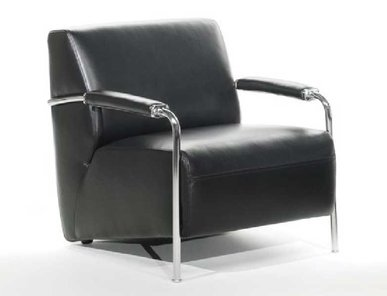 Кресло TIVOLI черная кожа от дизайнерской студии Profoffice