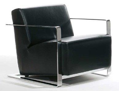 Кресло VIESTE черная кожа от дизайнерской студии Profoffice