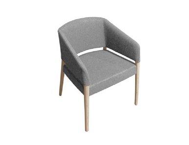 Кресло Nuvola Ткань/Дерево Серый от дизайнерской студии Profoffice