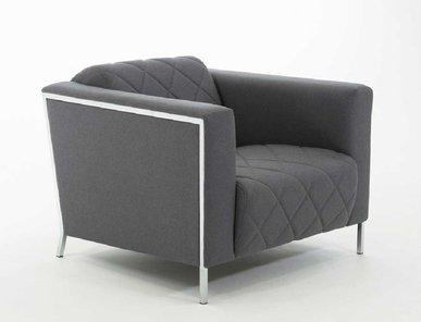 Кресло Vispo серая ткань от дизайнерской студии Profoffice